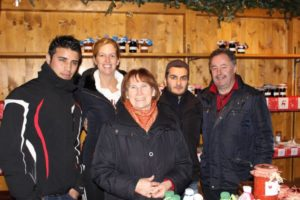 Refugees, Christmas market